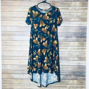 Lularoe Carly Watercolor Tulip Dress XS